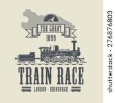 Train Race Abstract  Vector...