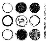 set of hand drawn scribble... | Shutterstock .eps vector #276898877