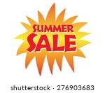 summer sale vector hand...   Shutterstock .eps vector #276903683