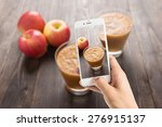 taking photo of red apples... | Shutterstock . vector #276915137
