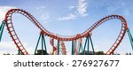 roller coaster  rail way curve... | Shutterstock . vector #276927677