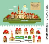 city  town. set of elements  ... | Shutterstock .eps vector #276934103