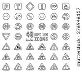 vector set of doodles road sign ... | Shutterstock .eps vector #276946157