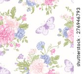 seamless floral pattern with... | Shutterstock .eps vector #276946793