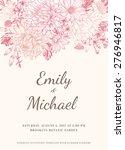 floral wedding invitation in... | Shutterstock .eps vector #276946817