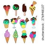 set of ice cream. melting ice...   Shutterstock .eps vector #276948137
