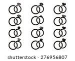 black vector wedding rings... | Shutterstock .eps vector #276956807
