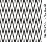 Black seamless wavy line pattern vector illustration | Shutterstock vector #276956933