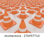 endless traffic cones 3d... | Shutterstock . vector #276957713