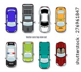 set of vector cars top view.... | Shutterstock .eps vector #276961847