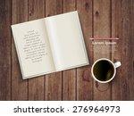 open square format brochure on... | Shutterstock .eps vector #276964973