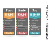 pricing table for web design... | Shutterstock .eps vector #276969167
