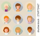 this set of stylized ... | Shutterstock .eps vector #276972467