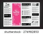 restaurant cafe menu  template... | Shutterstock .eps vector #276982853