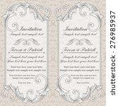 baroque wedding invitation card ... | Shutterstock .eps vector #276985937