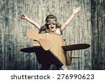 little dreamer boy playing with ...   Shutterstock . vector #276990623