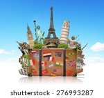 famous monuments of the world... | Shutterstock . vector #276993287