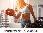 strong fitness woman...   Shutterstock . vector #277006337