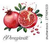 fruit pomegranate   ... | Shutterstock . vector #277009223