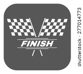 the race flag icon. finish... | Shutterstock .eps vector #277014773