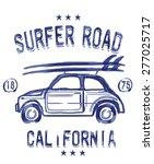 surf illustration  t shirt... | Shutterstock .eps vector #277025717