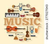 music instruments circle... | Shutterstock .eps vector #277027043