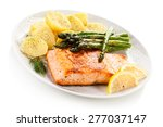 Grilled Salmon Boiled Potatoes...