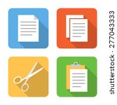 flat copy  cut and paste icons... | Shutterstock .eps vector #277043333
