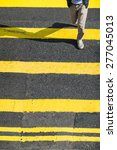 pedestrians people moving at... | Shutterstock . vector #277045013