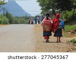 son la  vietnam   may 7  2015 ... | Shutterstock . vector #277045367