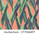 tropical monstera and palm... | Shutterstock . vector #277046897