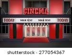 illuminated sign in a retro... | Shutterstock .eps vector #277054367