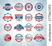happy memorial day logo vector... | Shutterstock .eps vector #277061393