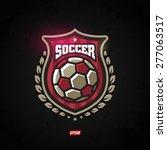 modern vector soccer winner... | Shutterstock .eps vector #277063517