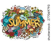 summer hand lettering and... | Shutterstock .eps vector #277069793