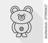 teddy bear flat icon with long... | Shutterstock .eps vector #277092617