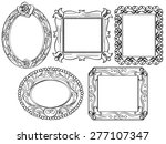 elegant ornate frames | Shutterstock .eps vector #277107347