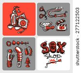 set of beautiful hand drawn...   Shutterstock .eps vector #277122503