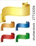 ribbons over white in different ... | Shutterstock . vector #27713206