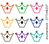 set of simple crowns | Shutterstock .eps vector #277148237