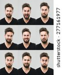 young man with different facial ... | Shutterstock . vector #277161977