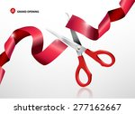 grand opening with red ribbon... | Shutterstock .eps vector #277162667