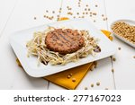 soy hamburger with soy sprouts | Shutterstock . vector #277167023