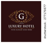 luxury hotel logo template... | Shutterstock .eps vector #277170377