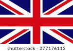 flag of great britain. vector. | Shutterstock .eps vector #277176113