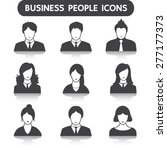 male and female business people ... | Shutterstock .eps vector #277177373