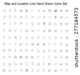 map and location line hand... | Shutterstock .eps vector #277184573