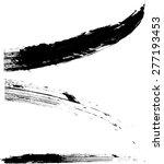 black vector brush strokes .... | Shutterstock .eps vector #277193453