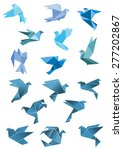 origami paper stylized blue...   Shutterstock .eps vector #277202867