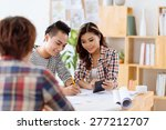 team of young architects... | Shutterstock . vector #277212707
